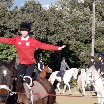 Séance d'équitation en 4ème ….